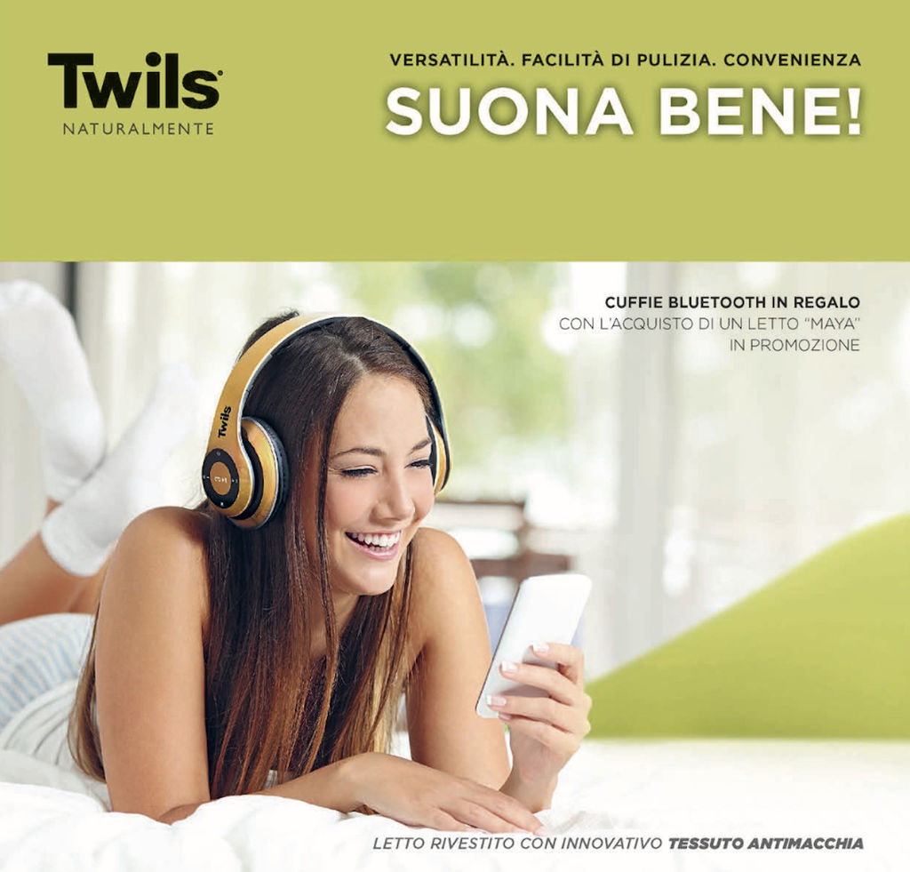 Twils regala le esclusive cuffie twils bluetooth for Twils arredamenti